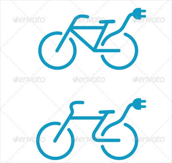 electric-bicycle-icons