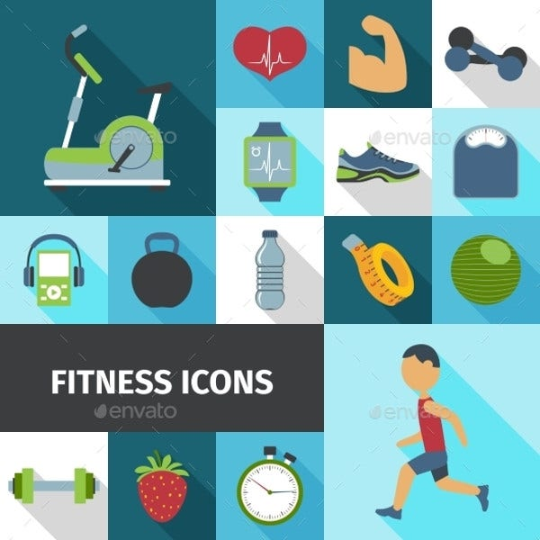 bicycle-exercise-icons