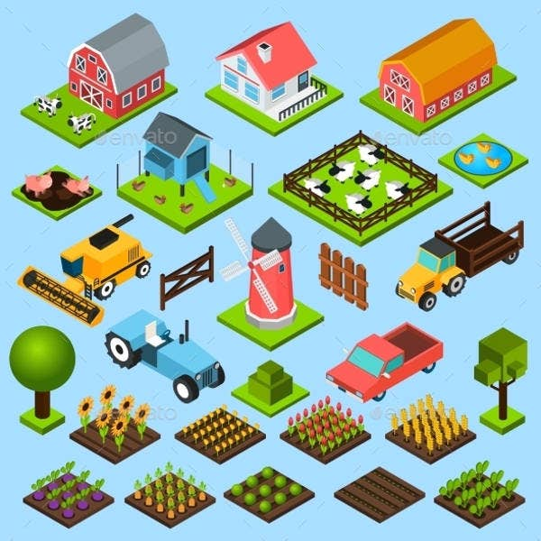 10  isometric icons