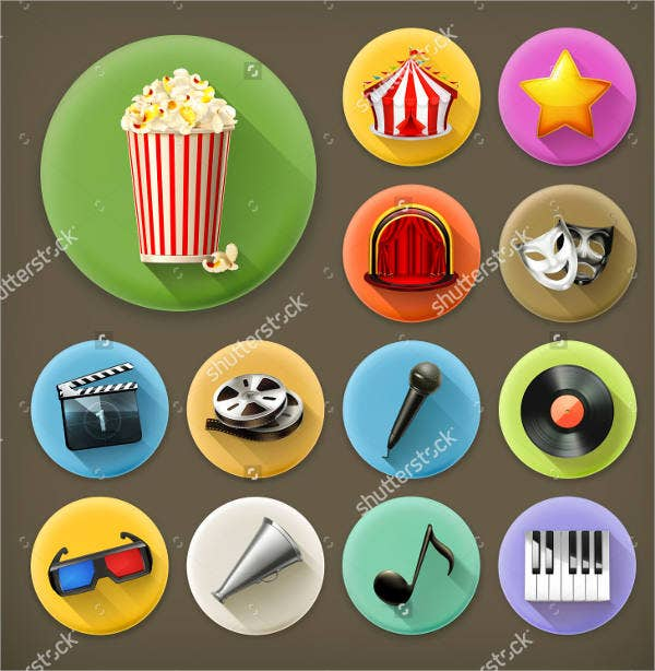 flat-rounded-cinema-icons