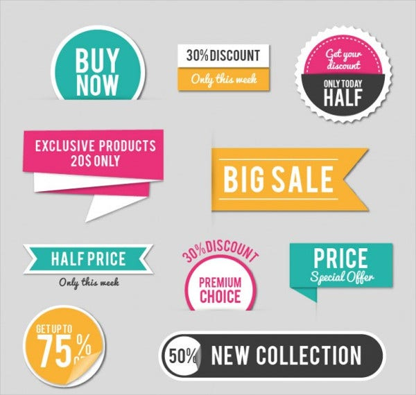 sales vector stickers