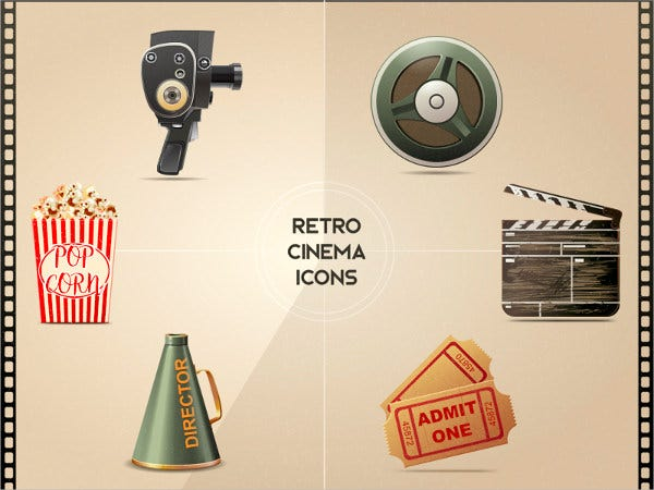retro-cinema-icons