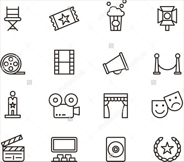 cinema-outline-icons