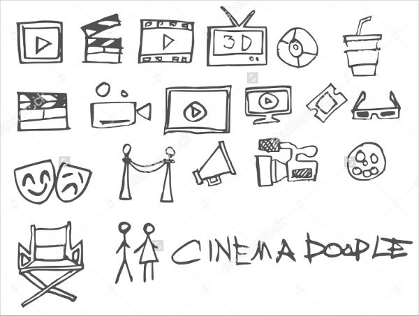 hand-drawn-cinema-icons