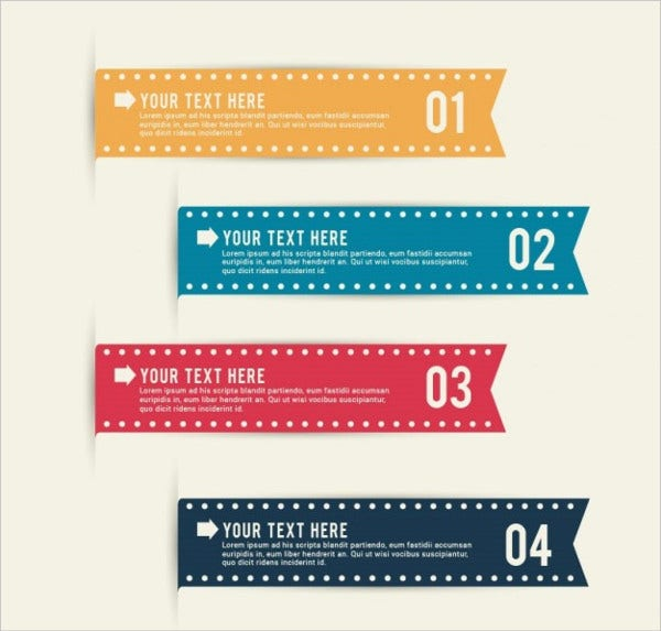 free vector ribbon banner