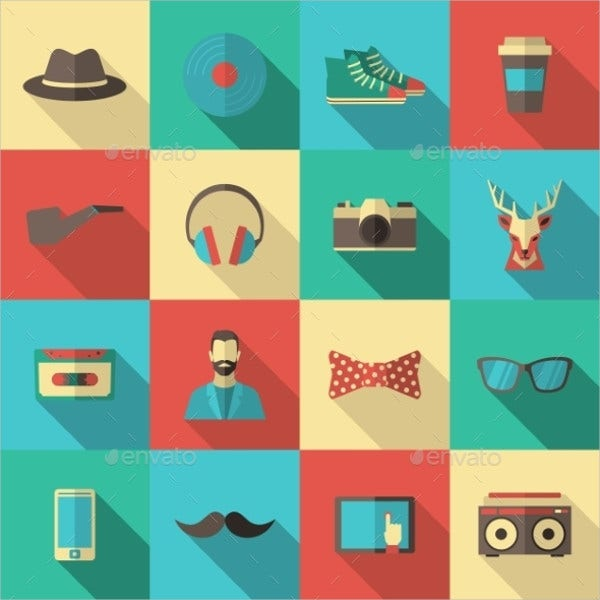 flat-hipster-icons