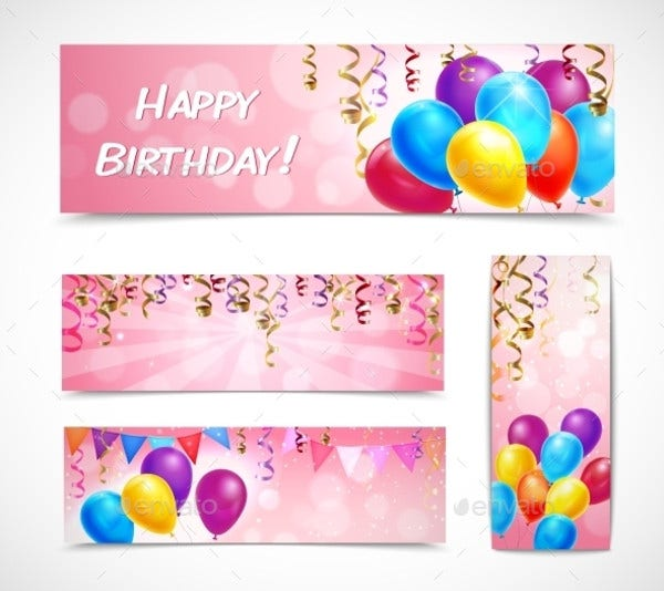 Birthday Ribbon Banner