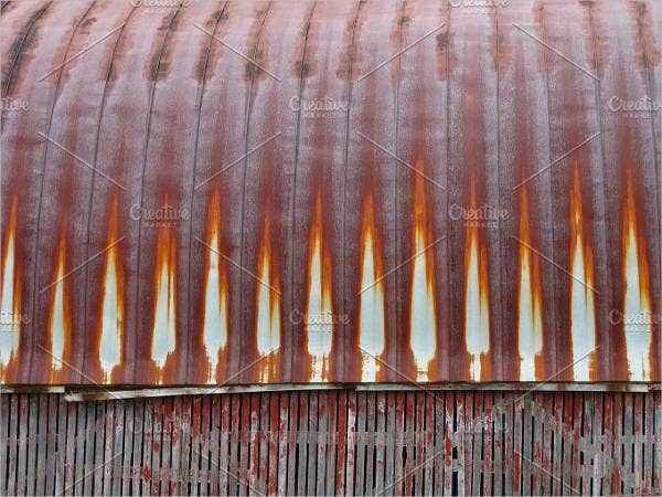 rusty metal roof texture