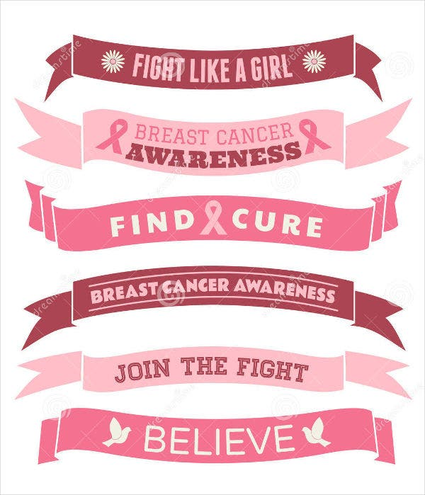 Breast Cancer Ribbon Banner