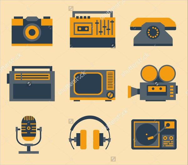 hipster-devices-icons-set