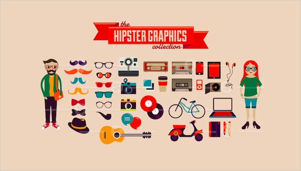 hipster logo feature images