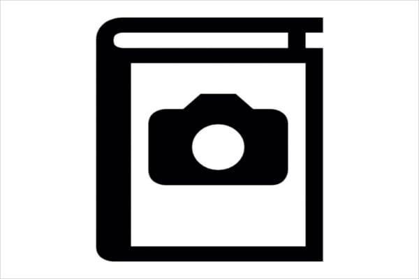 black and white album icon