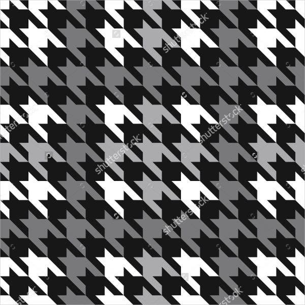houndstooth pattern in gray