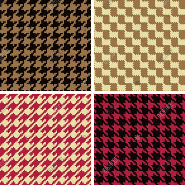 Pixel Houndstooth Pattern