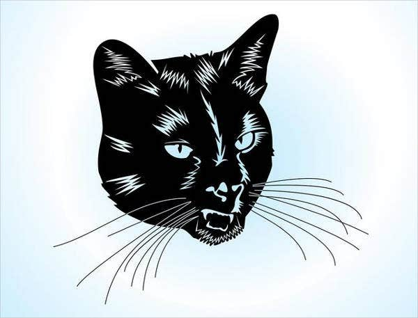 cat-head-vector