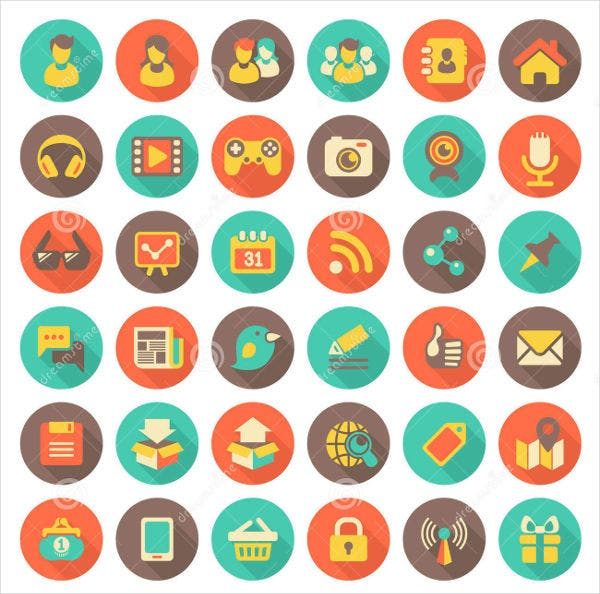 Vintage Social Networking Icons