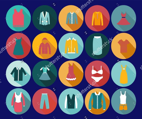 Vintage Clothing Icons