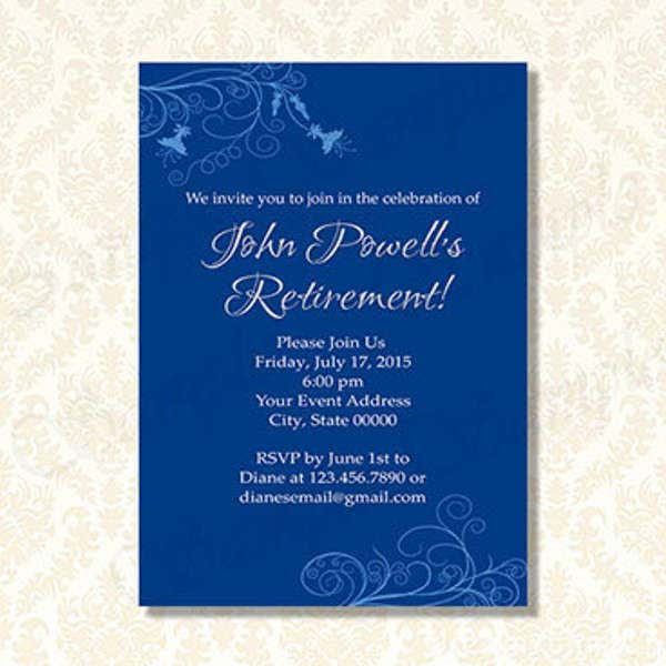 Farewell Dinner Party Invitation