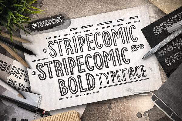 stripe typeface font