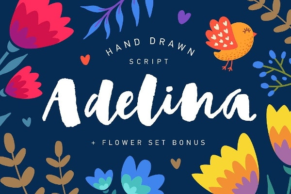 flower-script-font
