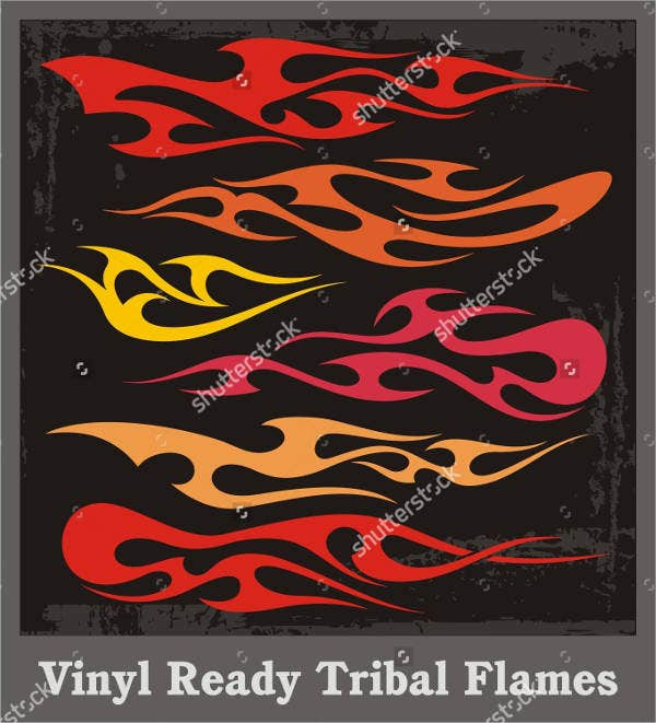 tribal flames vector