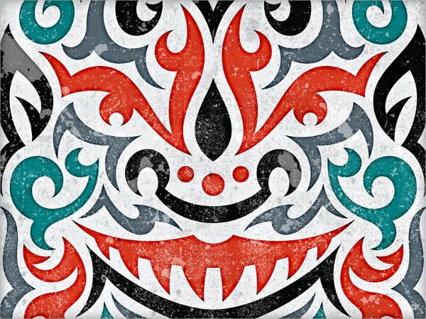 vector tribal face