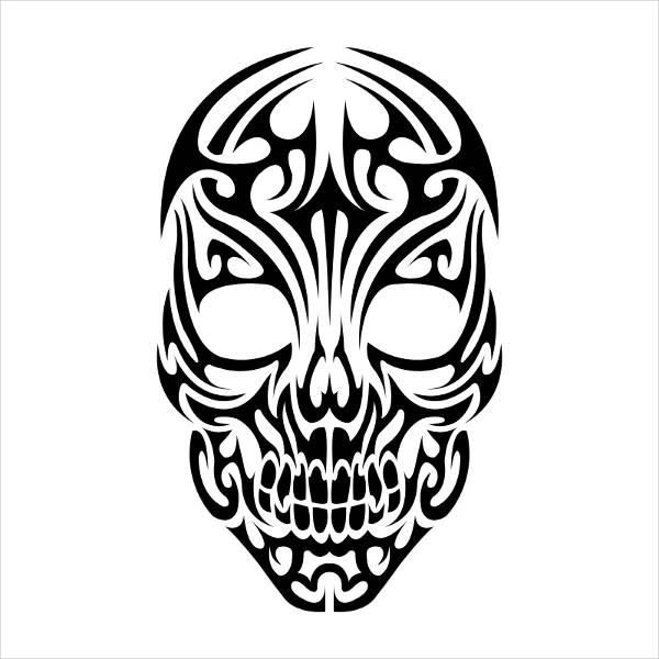 vector-tribal-skull