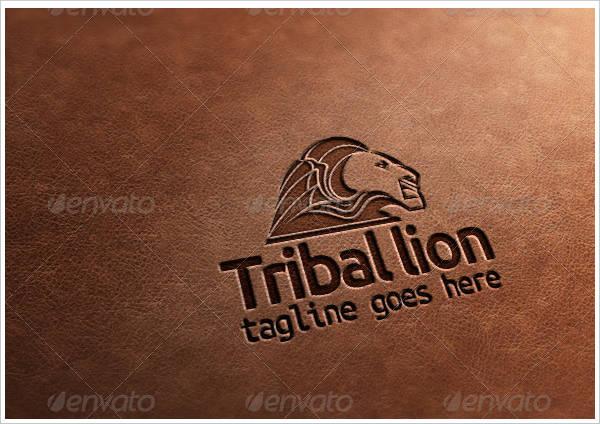 tribal lion logo vector