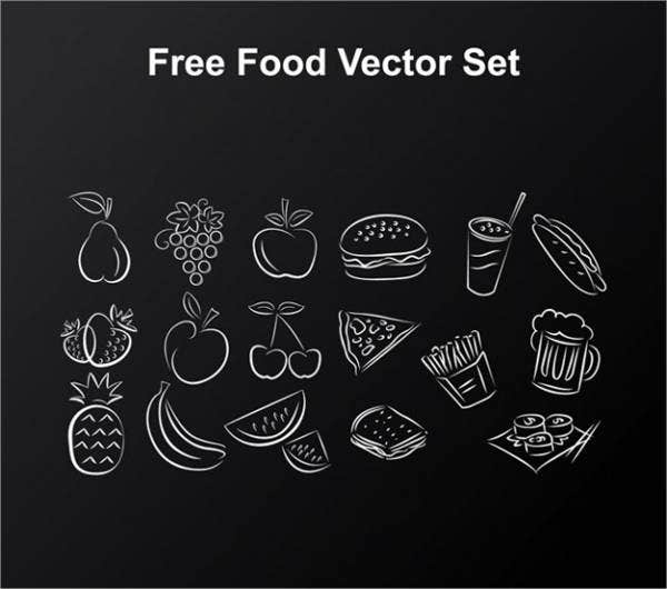 food-drawing-vector