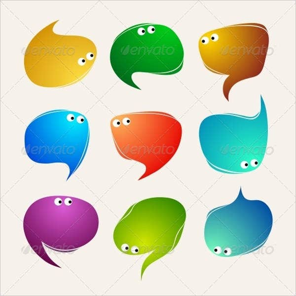speak bubble vector