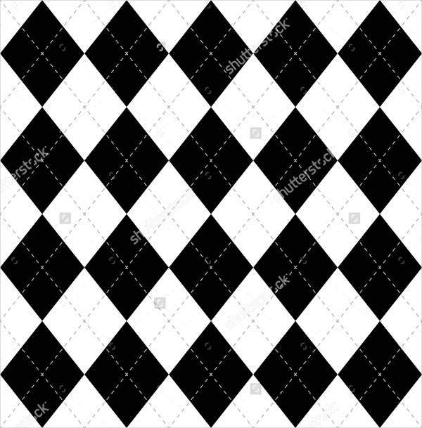 black-and-white-argyle-pattern