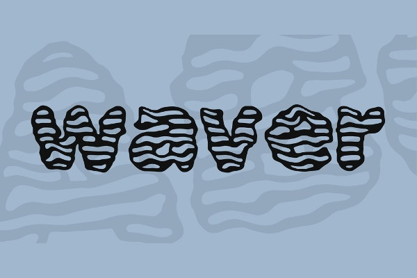 water wave font