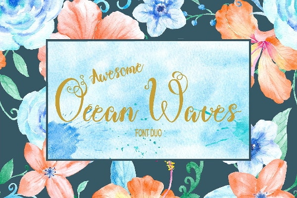 waves-brush-font