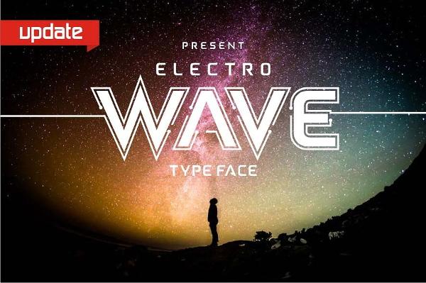 electro wave font