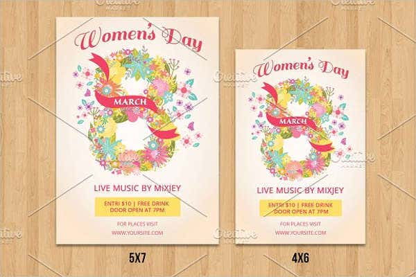 womens day month menu template