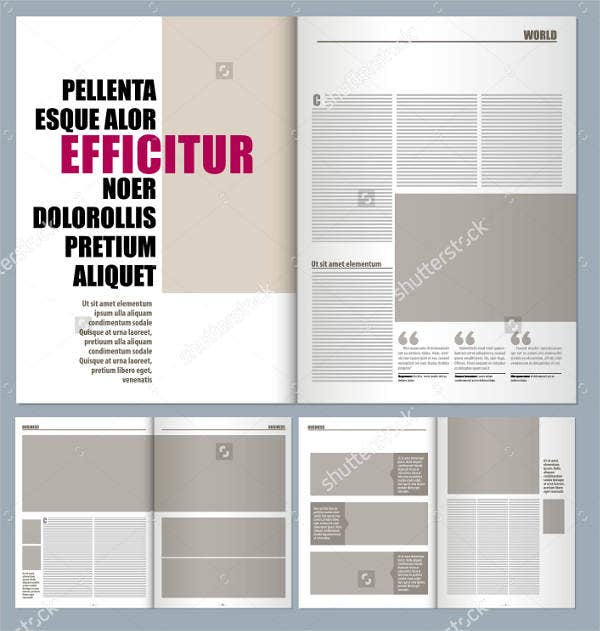 Magazine layout template 16 free psd vector eps png for Magazine layout templates free download