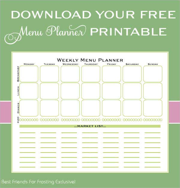 printable womens day menu