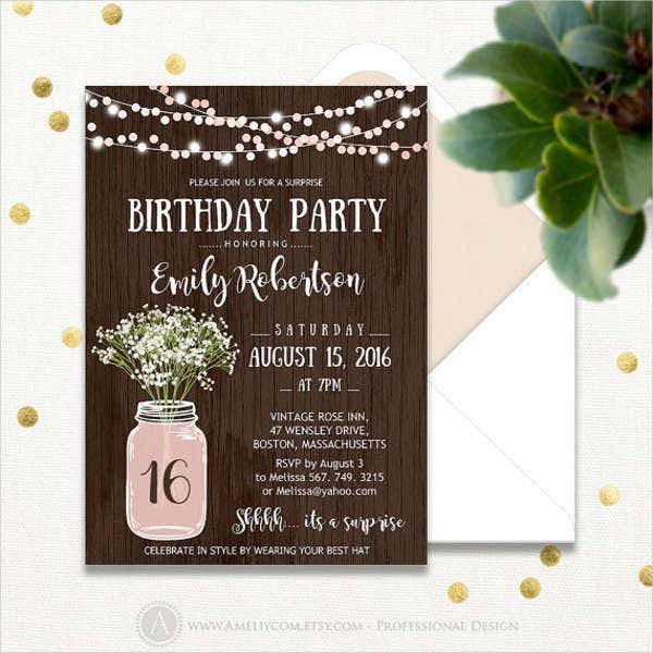15 Birthday Invitation Templates In Pdf Free Amp Premium