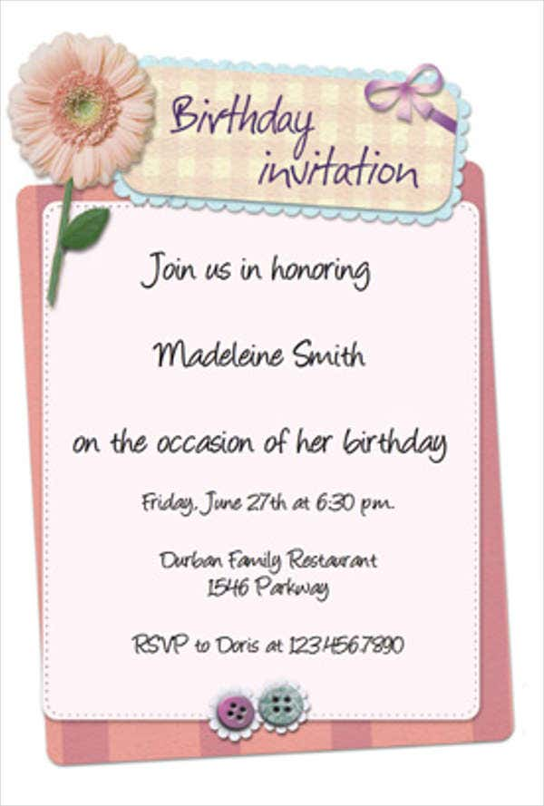 Birthday Invitation Templates In PDF Free Premium Templates - Informal invitation letter to a birthday party