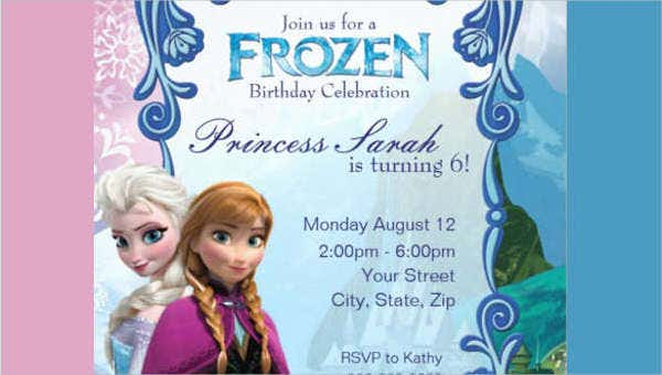 graphic regarding Free Printable Frozen Invitation Template identify 15+ Birthday Invitation Templates within PDF Free of charge Top quality