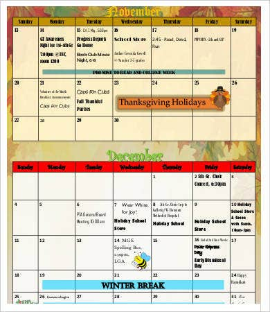 Thankful Party Schedule Template