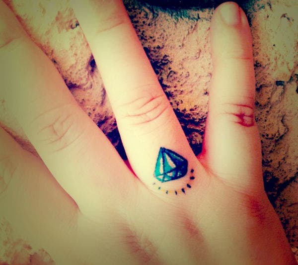 Diamond Finger Tattoo