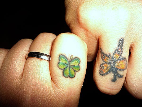 Butterfly Finger Tattoo