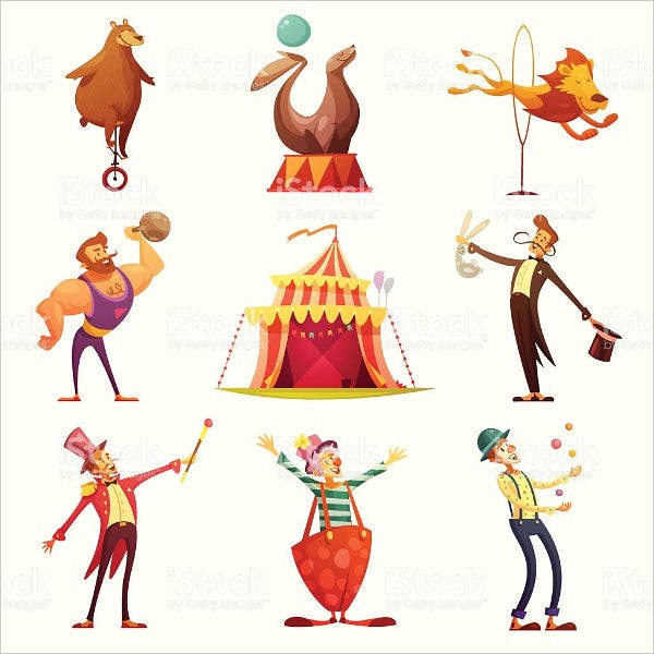 Circus Retro Icons