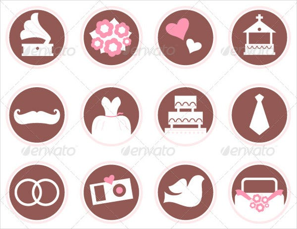 Retro Wedding Icons