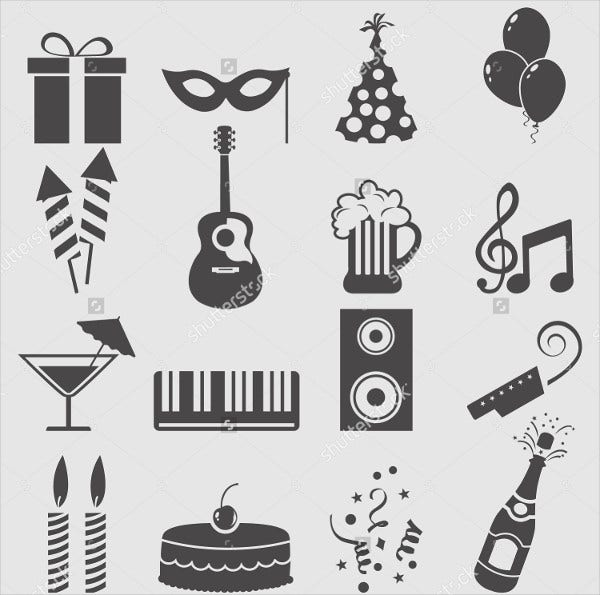 Party Vector Retro Icons