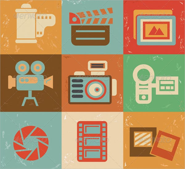 Photograph Retro Icons