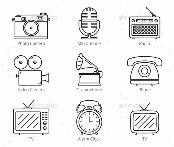 Retro Line Icons