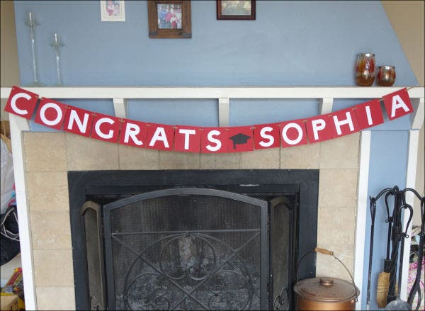 Personalized Congratulations Banner