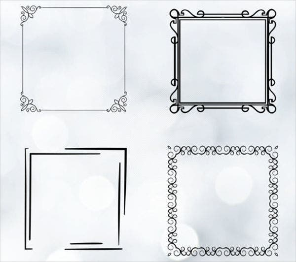 hand drawn square vector